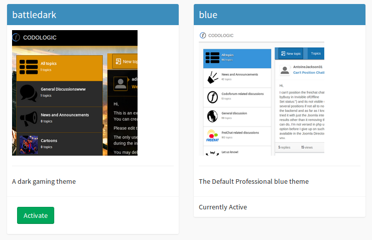 codoforum backend theme